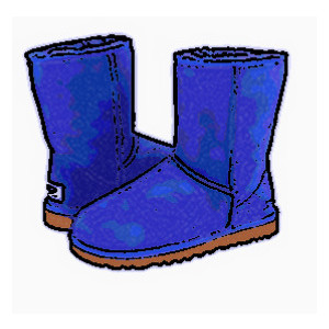 300x300 Boots Clipart Blue