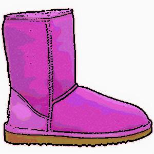 300x300 Boots Clipart Purple Shoe