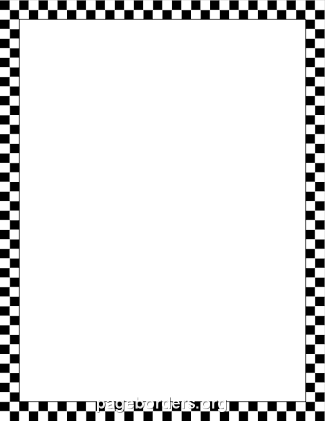 470x608 Black and White Checkered Border Clip Art, Page Border, and