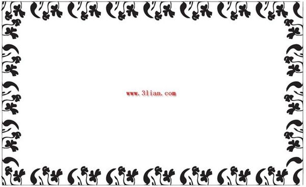 600x368 Black and white floral border vector Free vector in Encapsulated
