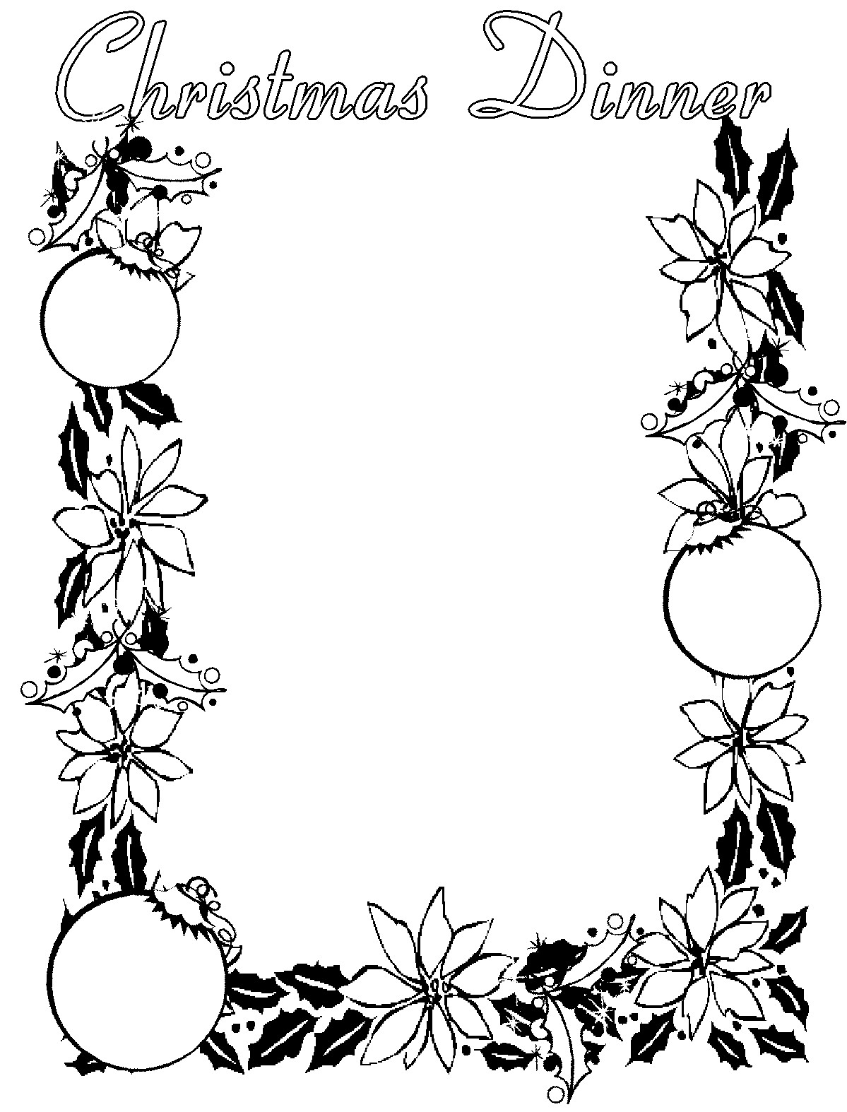1199x1574 Christmas Borders Clipart Black And White – Halloween amp Holidays