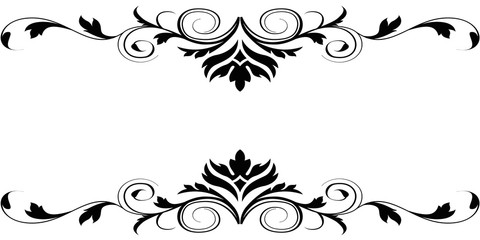 480x240 Flower Border Design Black And White Collection (58+)
