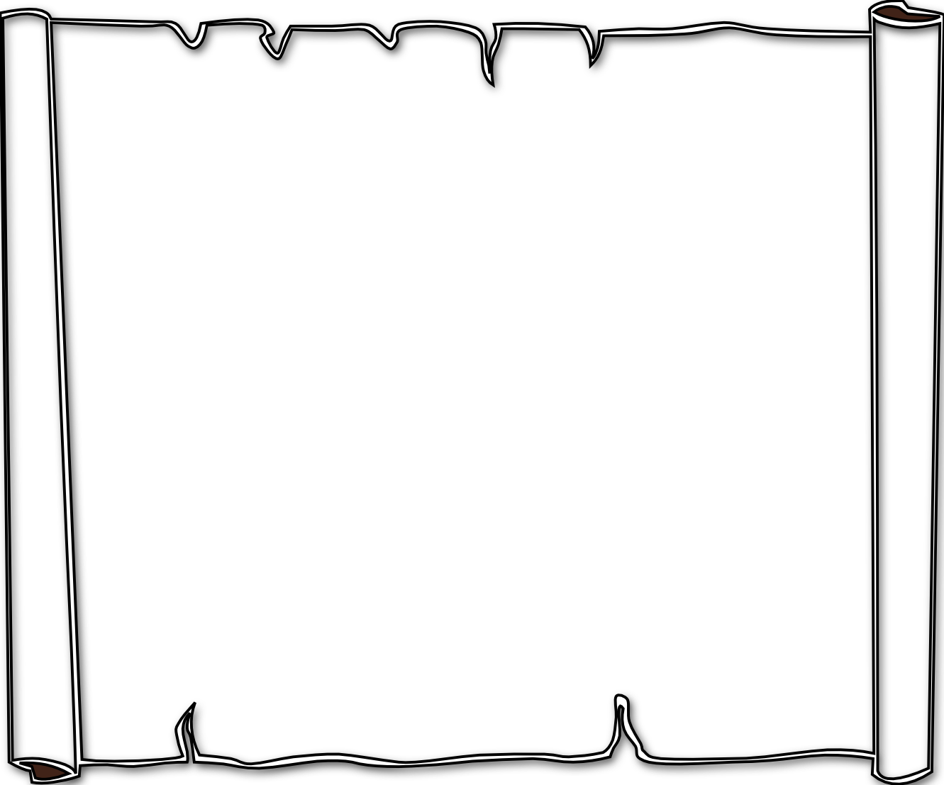 1331x1107 Halloween border borders black and white free download clip art