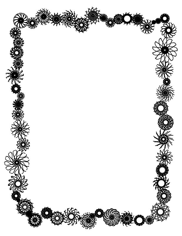 618x800 The 25+ best Flower border clipart ideas Clipart of