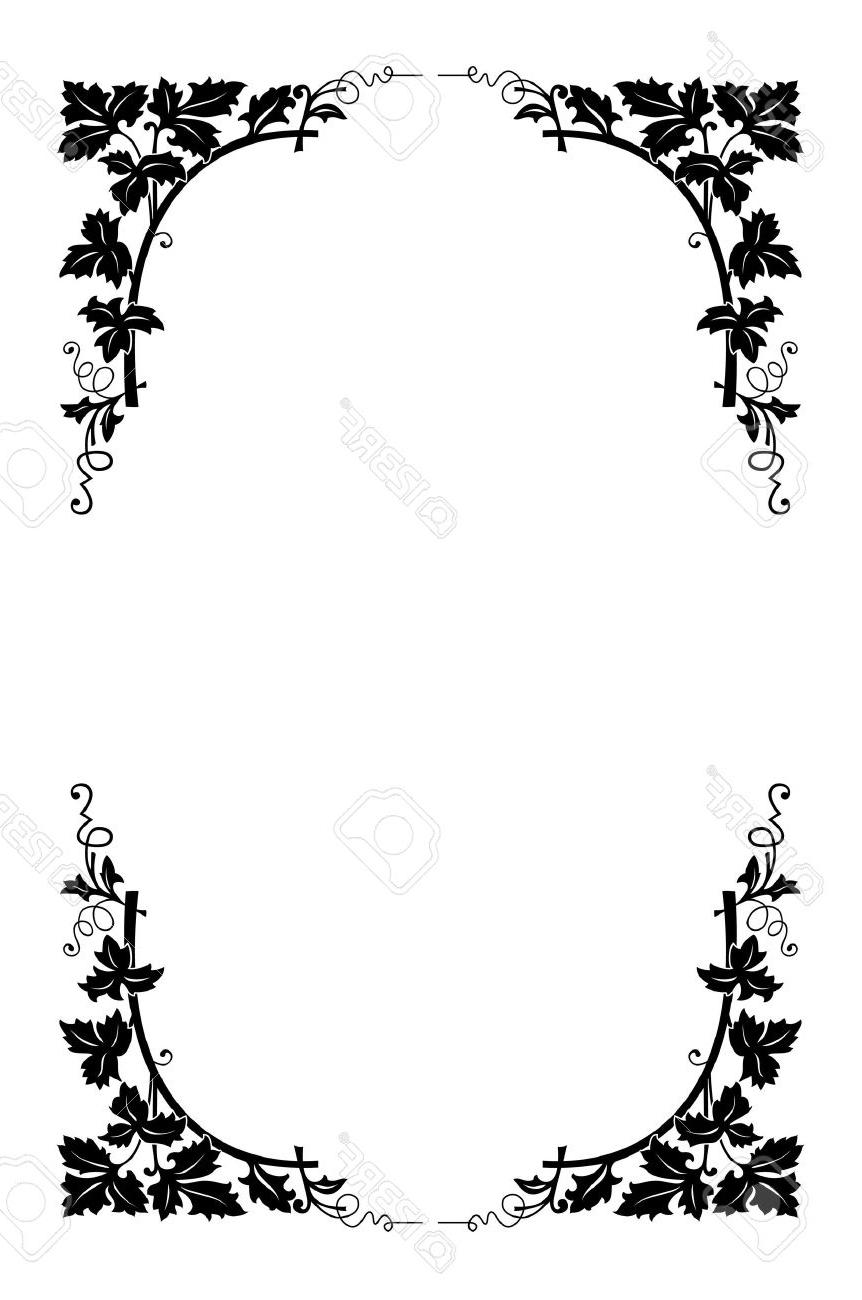 862x1300 Best HD Black And White Vector Borders Photos » Free Vector Art