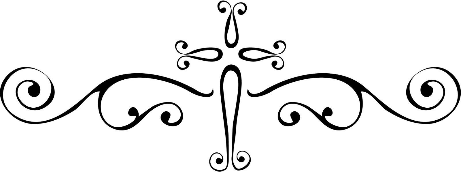 1600x596 Fancy Swirl Clipart