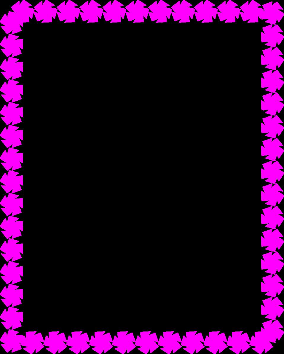 958x1195 Purple Ribbon Border Clipart
