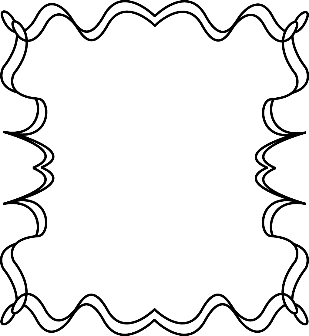 1019x1108 Cute Black And White Border Clipart