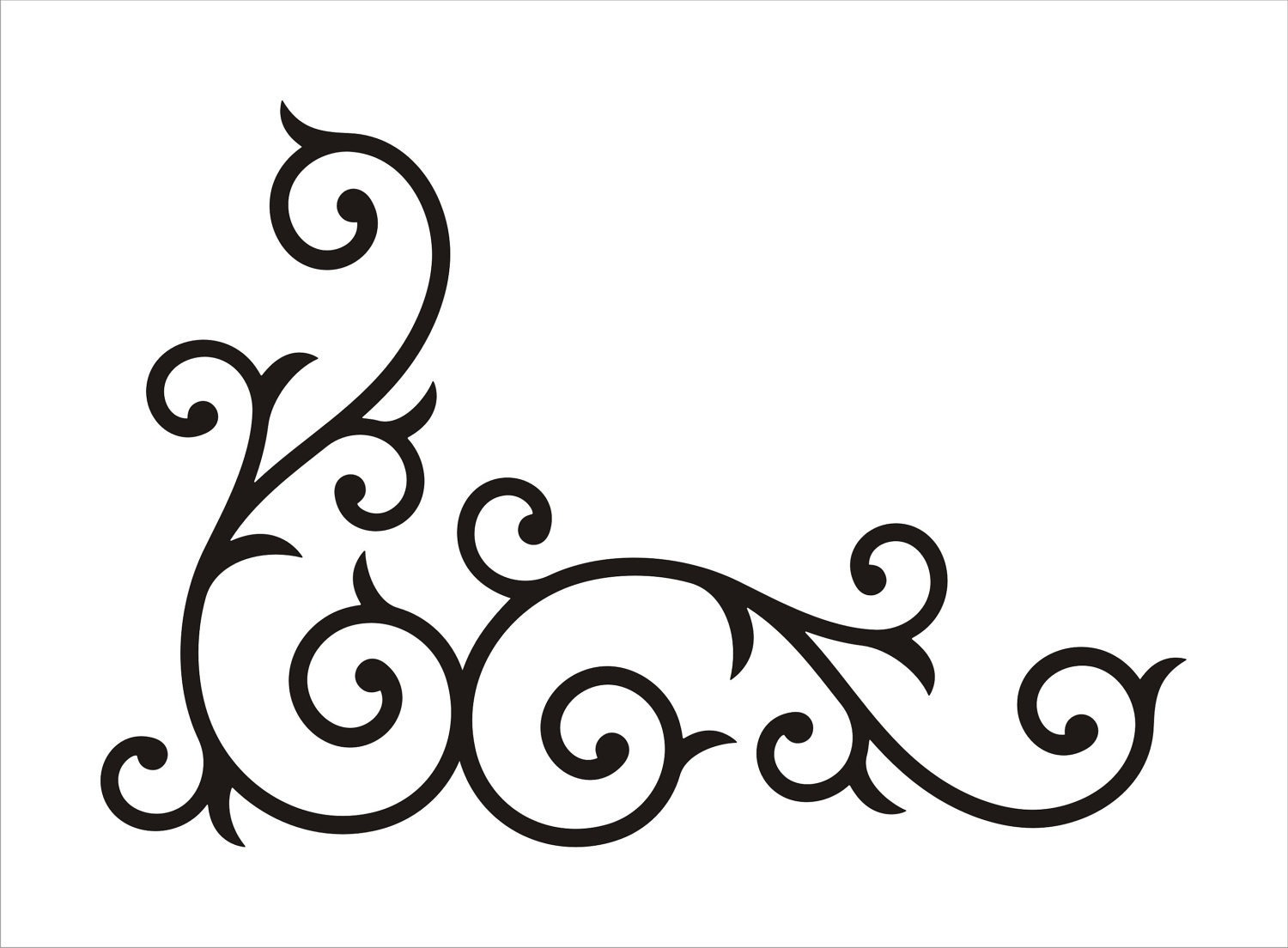 1500x1104 Swirl Border Clipart Black And White Letters Format