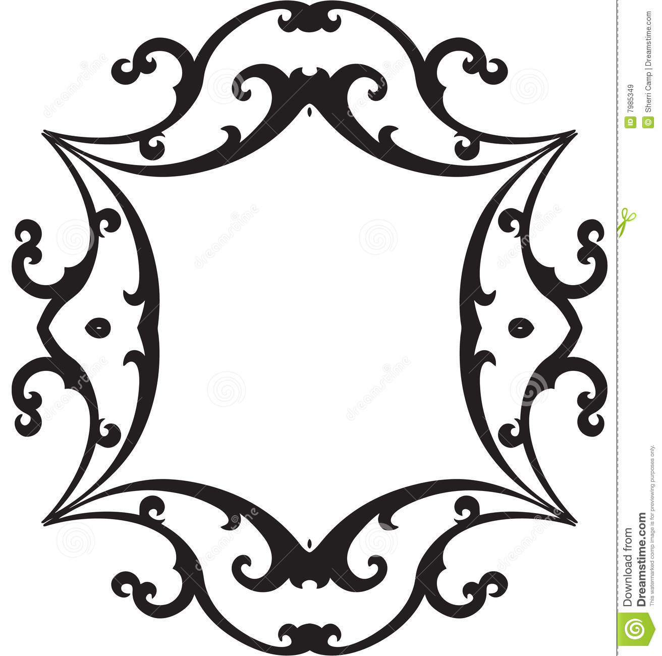 1312x1300 Black And White Scroll Clipart