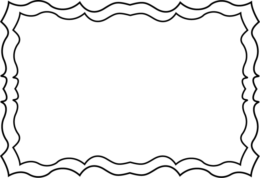 830x570 Black and white borders cliparts