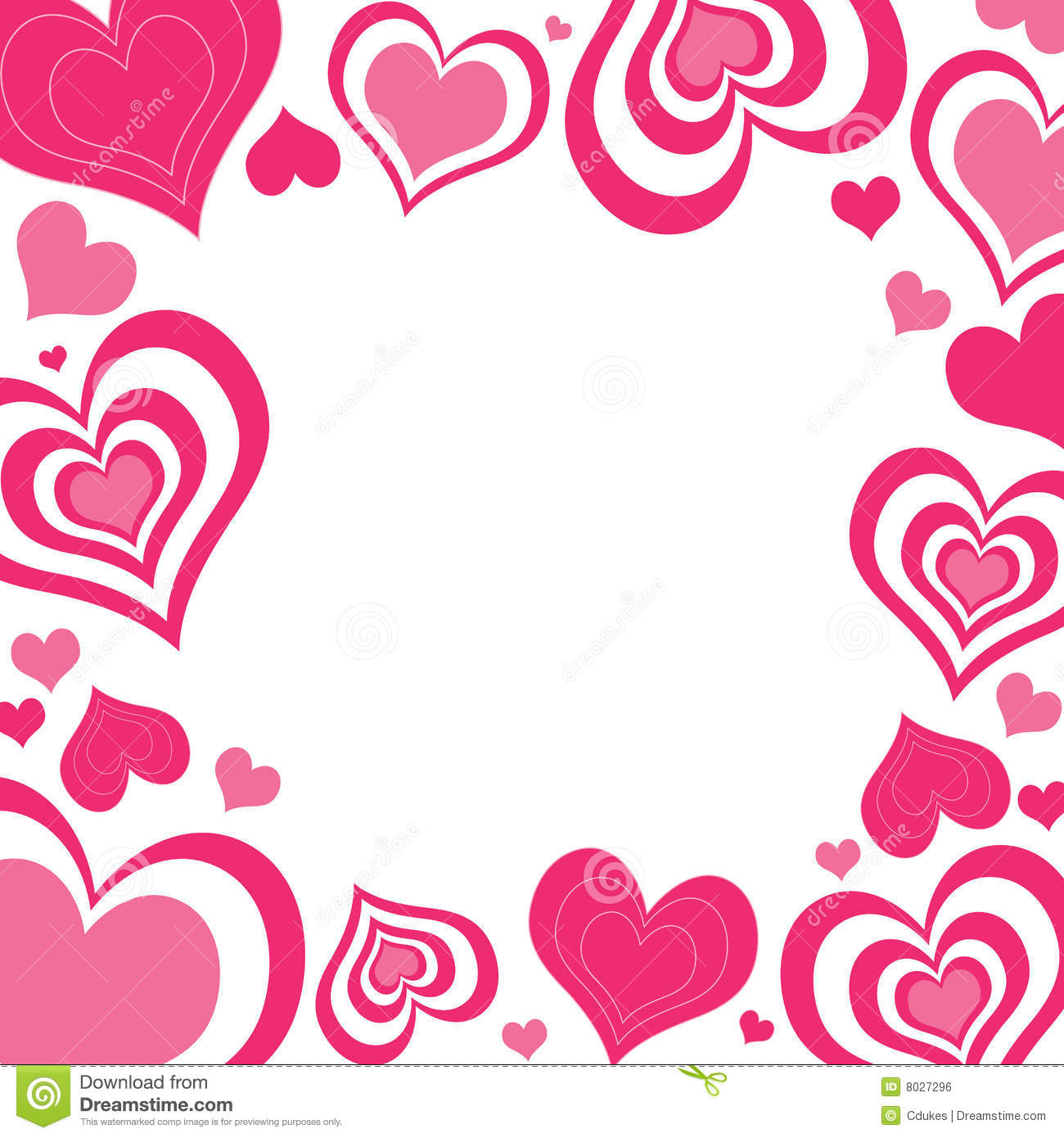 1300x1390 Clipart Of Valentine Borders