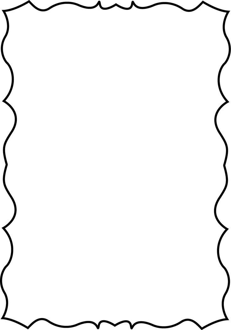 736x1048 Drawn Road Border Clip Art