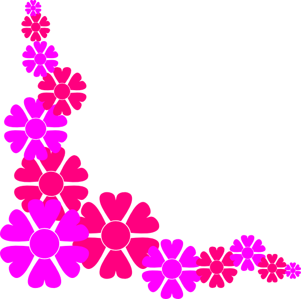 600x597 Pink Flower Border Clip Art Free Clipart Images 2