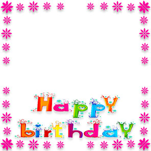 296x296 Free Birthday Borders Happy Border Clip Art 2