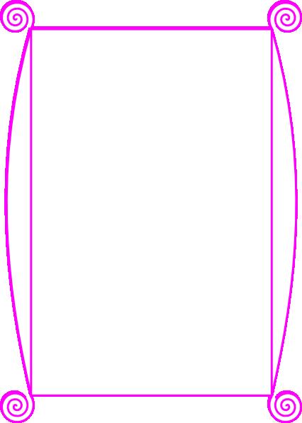 426x597 Pink Border Clip Art