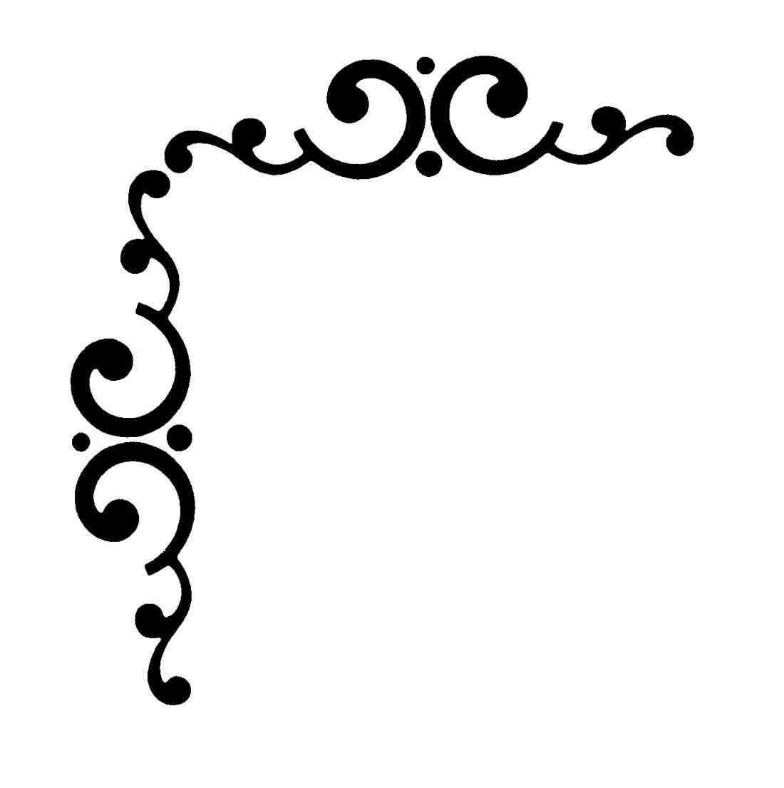1100x1105 Scrolls Clip Art Dreamy Wedding Corner Border Clipart Romantic