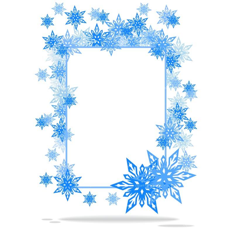 800x800 Snowflake Border Clipart