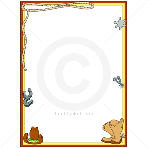 300x300 Western Themed Borders Clip Art