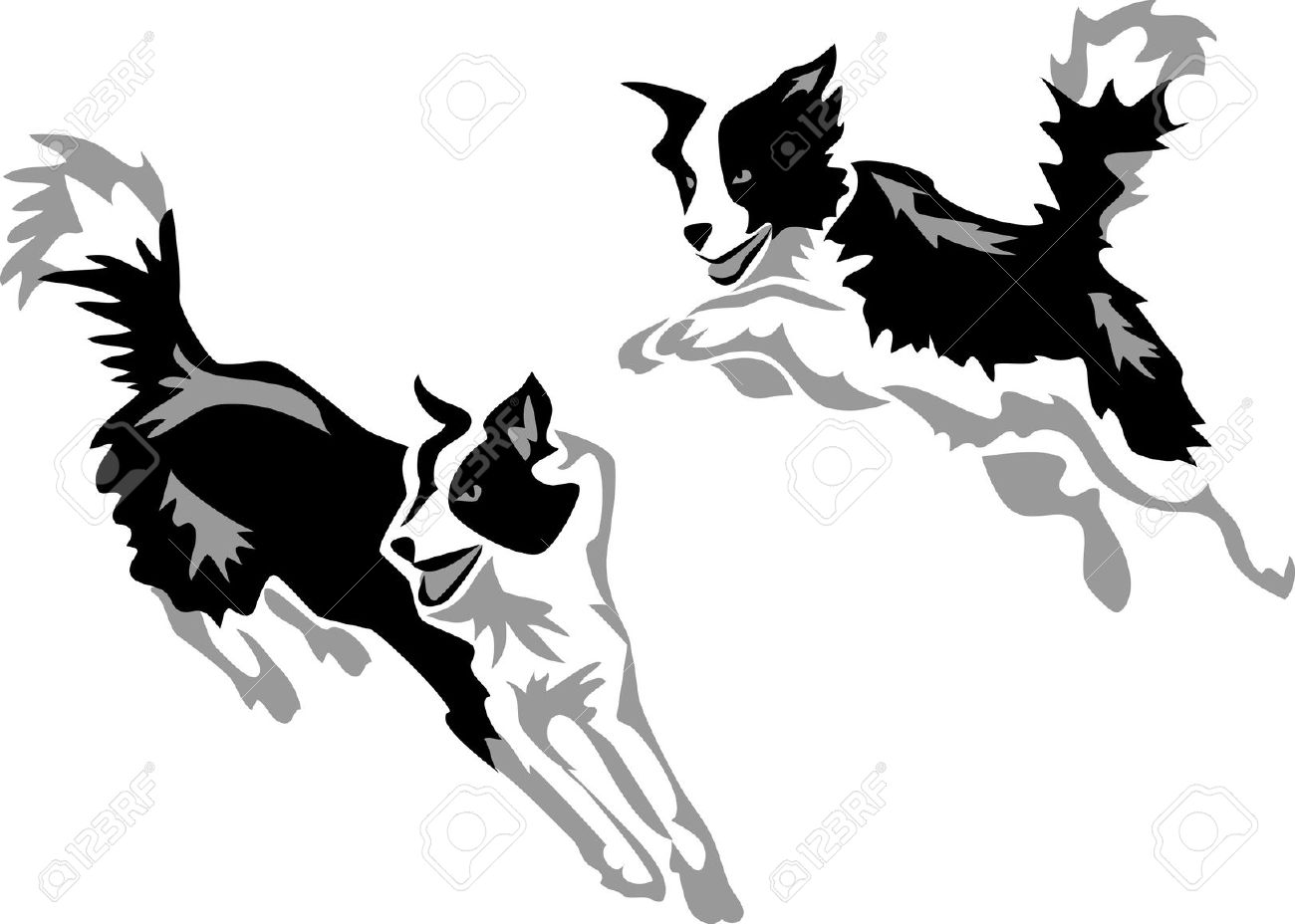 1300x928 Border Collie Clipart Cartoon