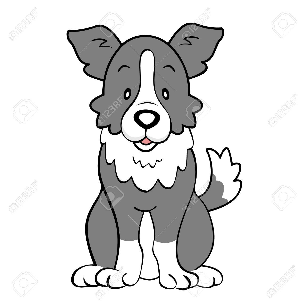 1300x1300 Border Collie clipart red