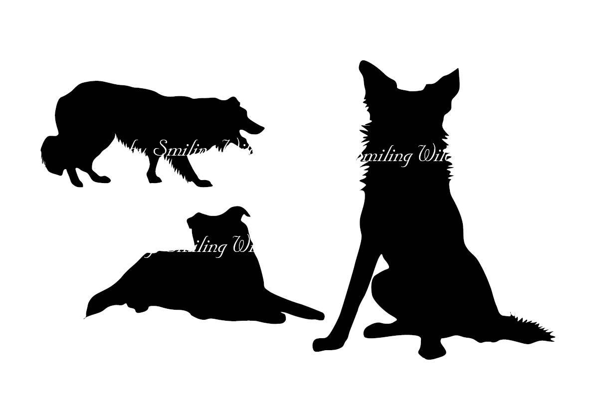 1191x842 Border Collie svg border colly silhouette cliart Puppy clip art