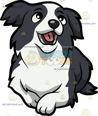 337x400 Collie clipart cartoon