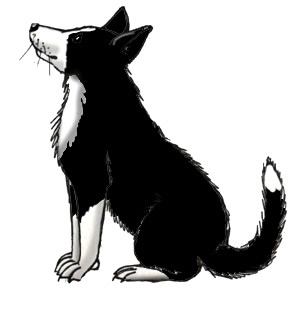 308x309 Farm Silhouette Clip Art Farm Dog (Border Collie)