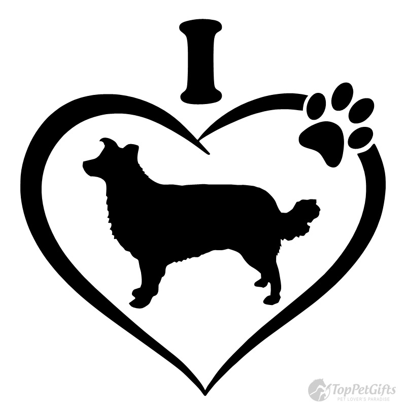 800x800 I Love My Border Collie Decal