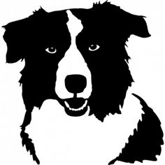 236x236 Bearded Collie Clipart Silhouette