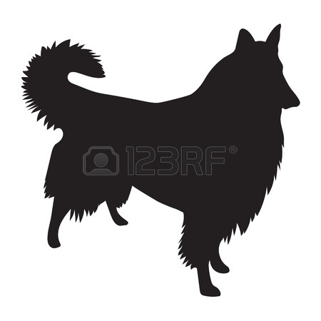 Border Collie Outline
