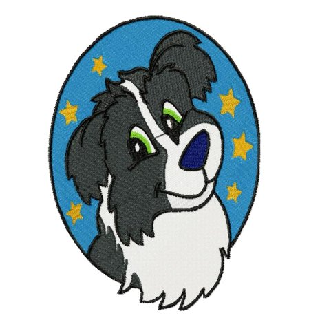 481x481 Border Collie Clipart Old
