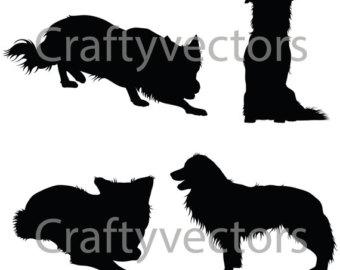 340x270 Rough Collie clipart silhouette