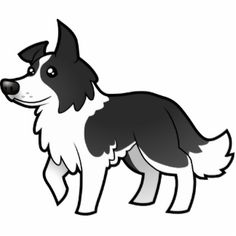 236x236 border collie outline
