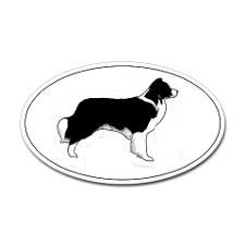 225x225 Jack Russell Silhouette Red Border Collie Bone Hang Up Natural