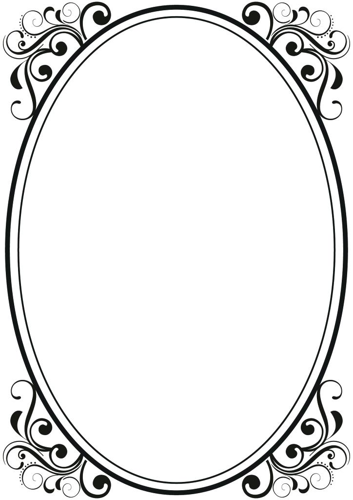 724x1024 Frame Clipart Best Photos Of Frame Border Design Borders And