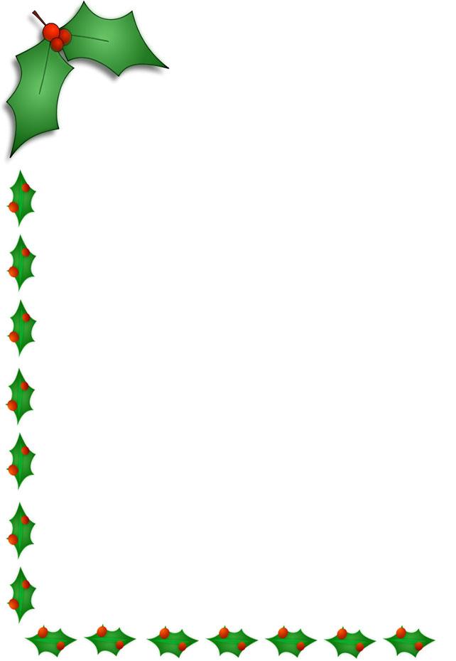 642x930 Christmas Corner Border Clipart