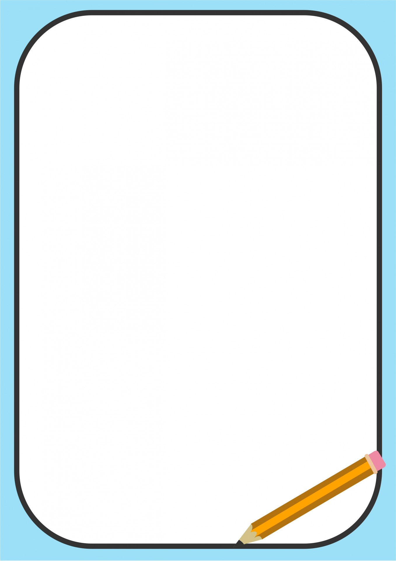 1357x1920 Pencil Border Clipart Free Stock Photo