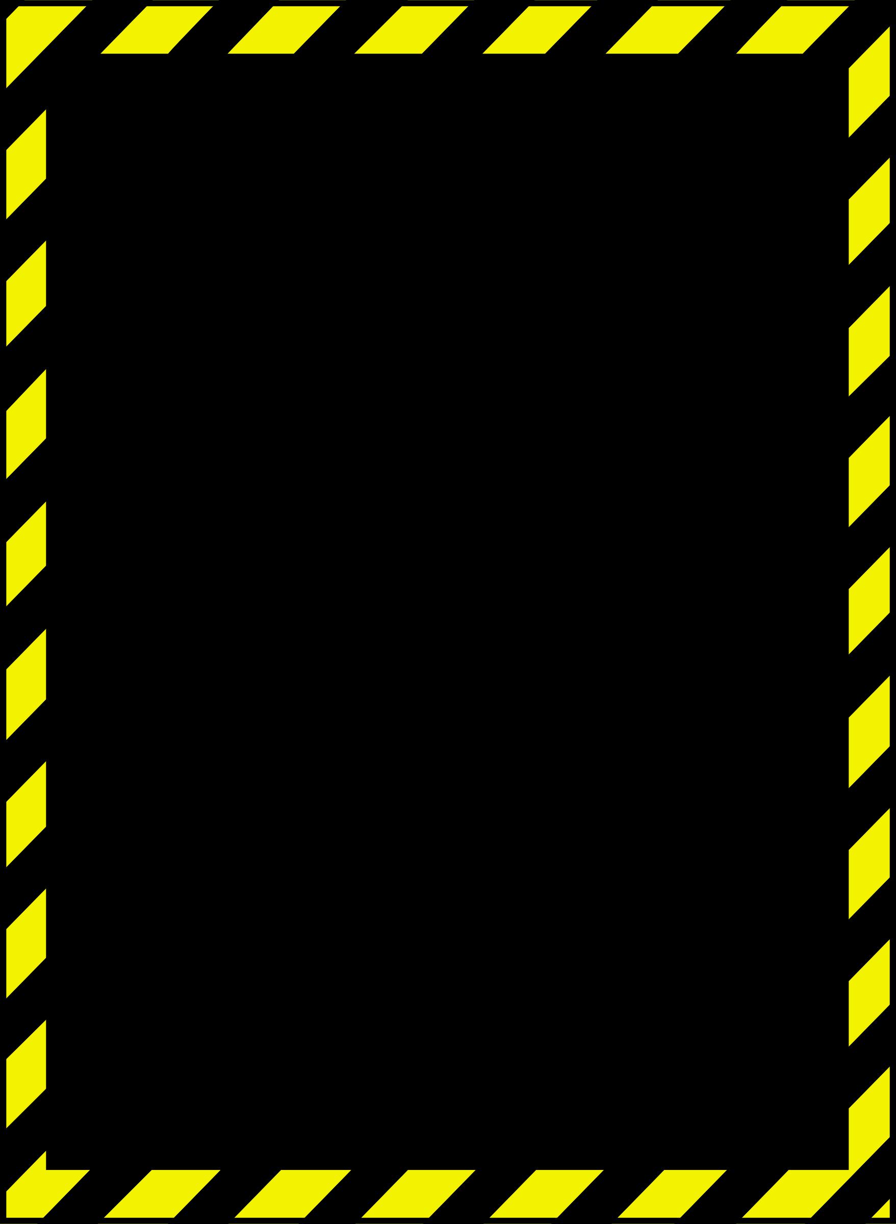 1757x2400 Warning Border Clipart