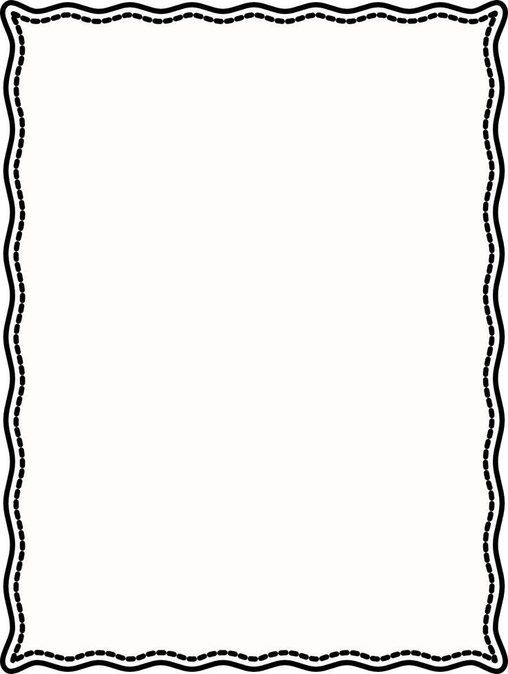 736x975 Single Line Border Clipart Cliparts