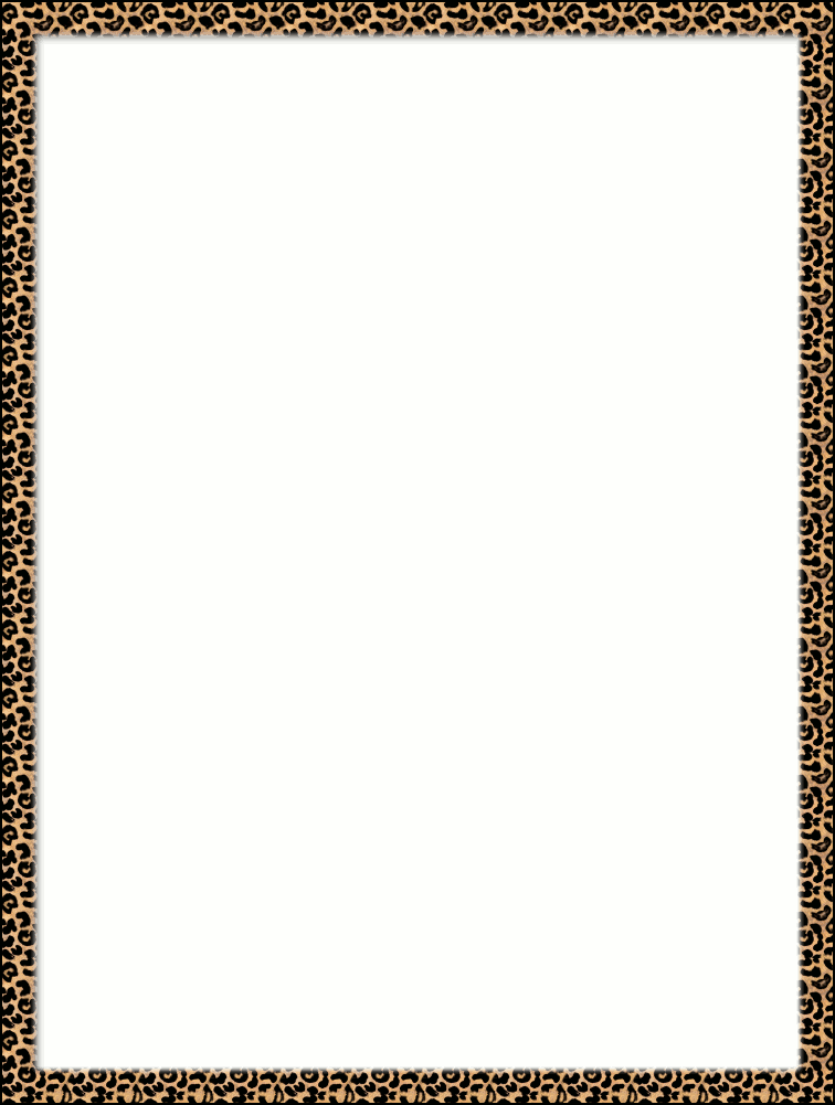 756x1001 Cheetah Clipart Border