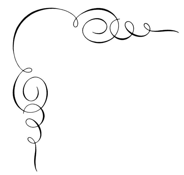 736x699 Calligraphy Borders Clip Art