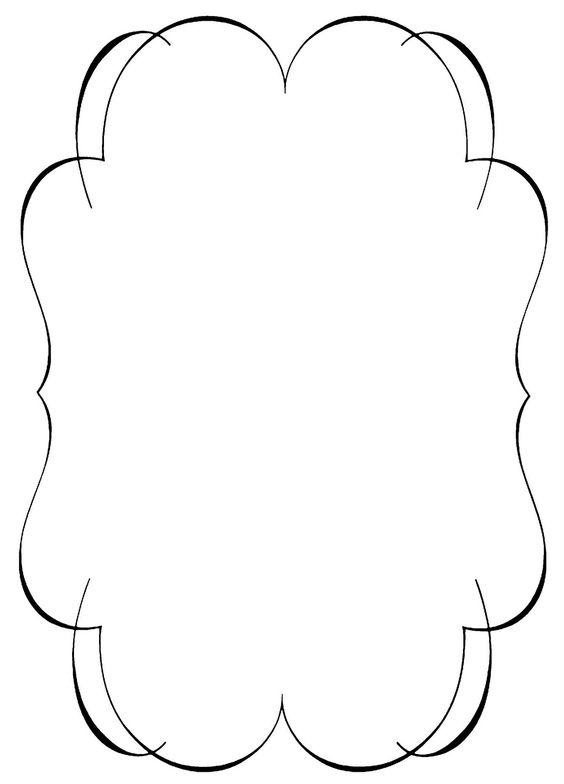 564x784 Elegant Border Clip Art