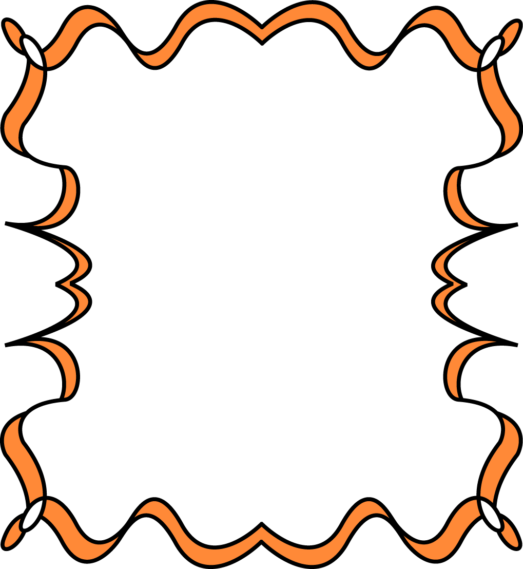 1019x1108 Orange Full Page Zig Zag Border Frame