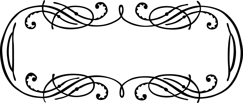 2473x1045 Vintage Calligraphy Border Frame Clip Art Vector Image Oh So