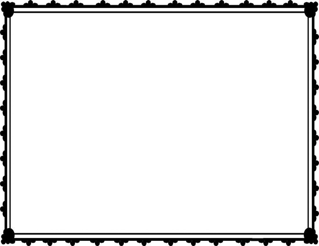 1100x850 Border Frames Clipart
