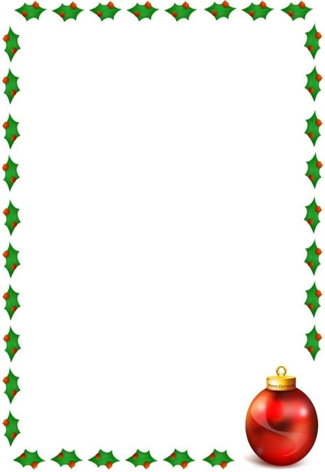 642x930 Holly Border Clipart Free