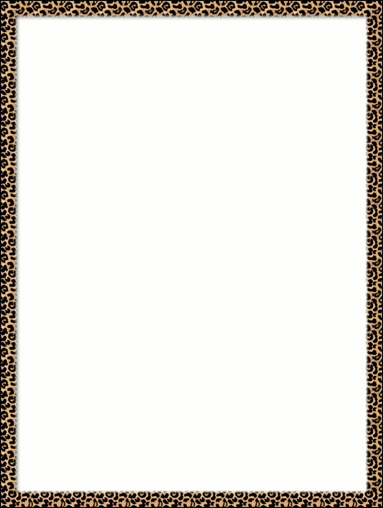 756x1001 Leopard print clipart borders
