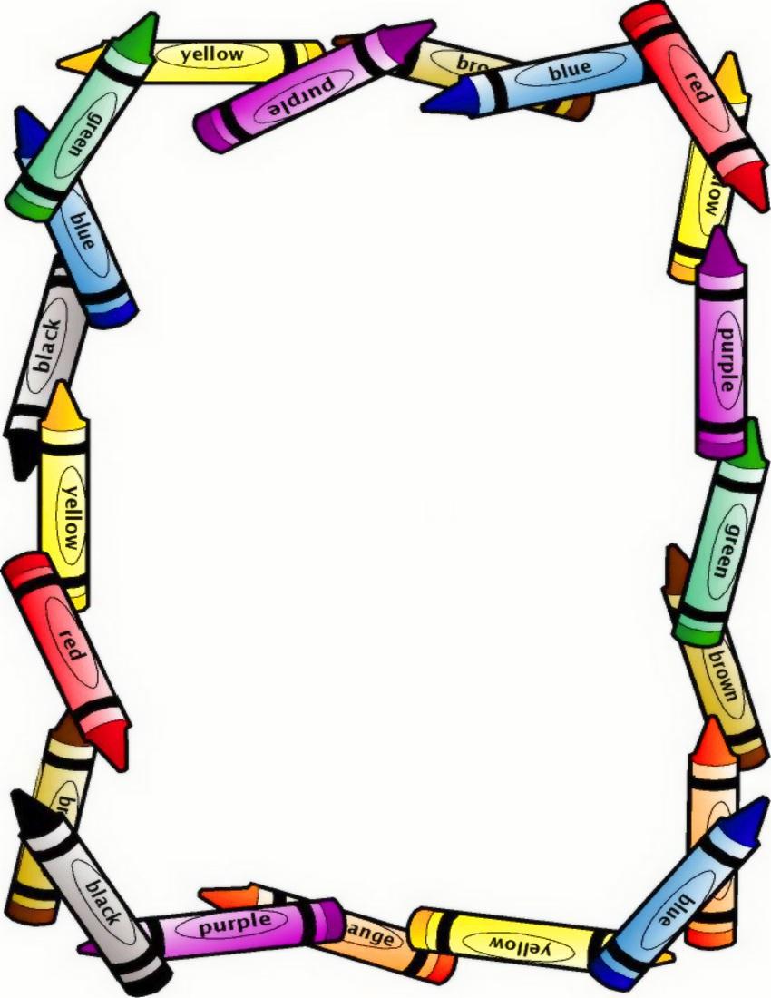 850x1100 School Border Clip Art