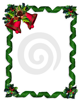 280x350 Elegant Christmas Border Clipart